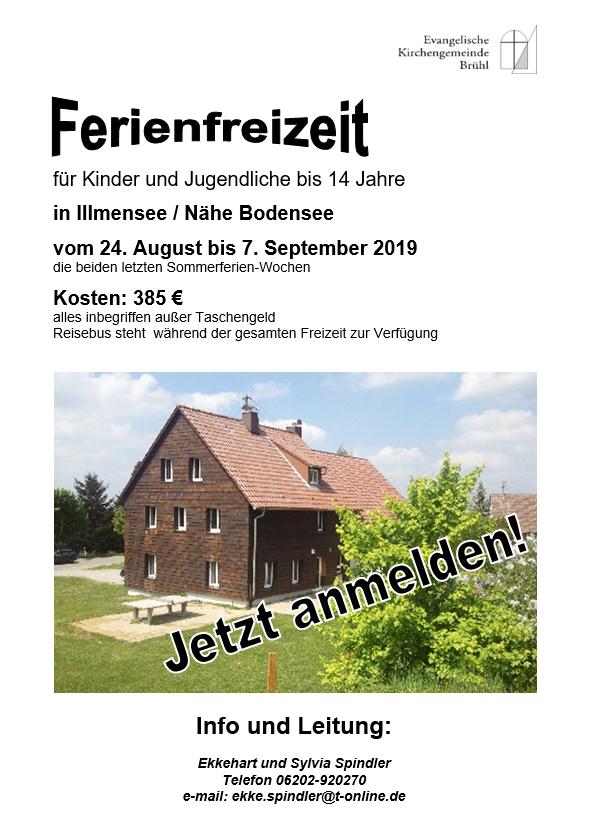 Jugendfreizeit Bruehl 2019