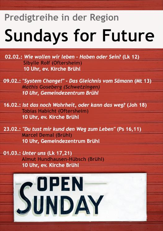 Sundays for Future Bruehl klein