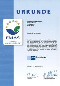 2020-01 EMAS Zertifikat